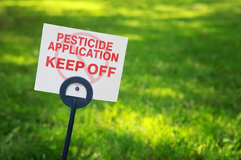 Insecticides on lawn