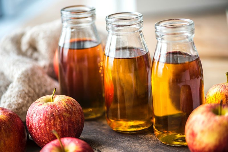 Jars of apple cider vinegar